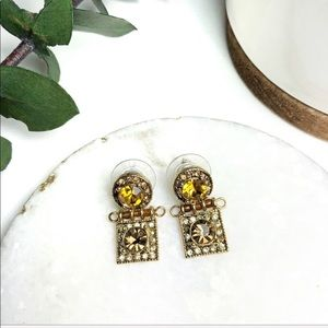 PREMIER DESIGNS Vintage Citrine Gemstone Earrings